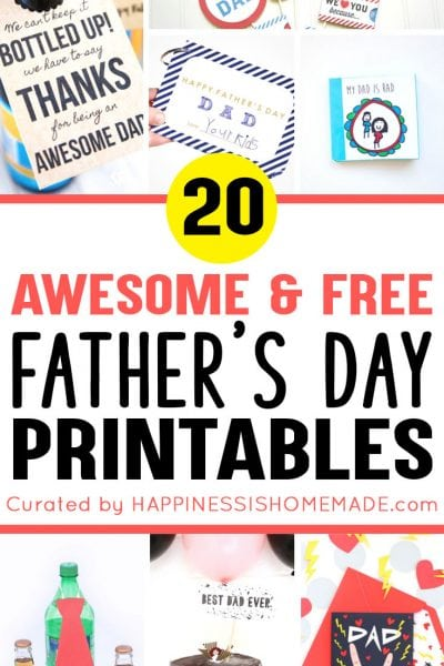 Awesome and Free Father's Day Printables