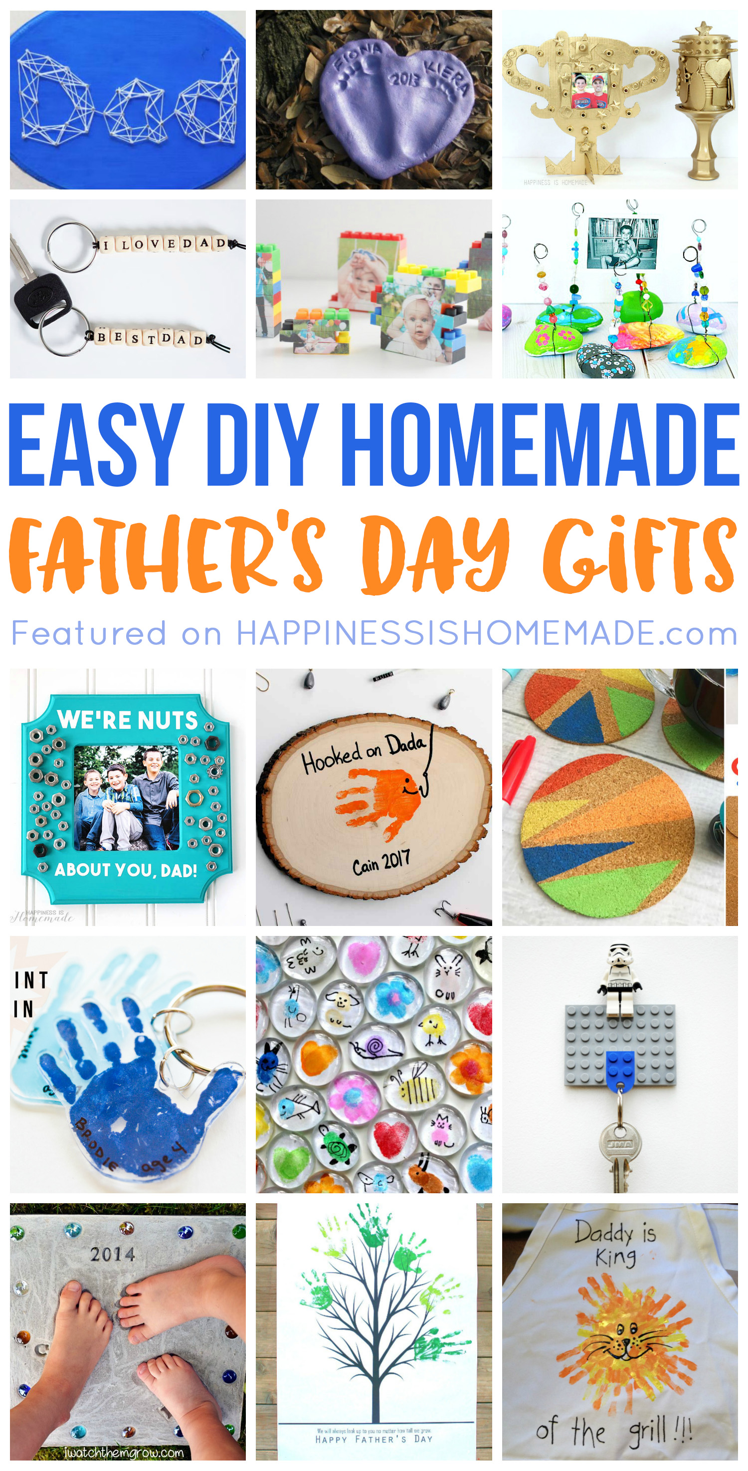 20+ Homemade Father\'s Day Gifts That Kids Can Make - Happiness is ...