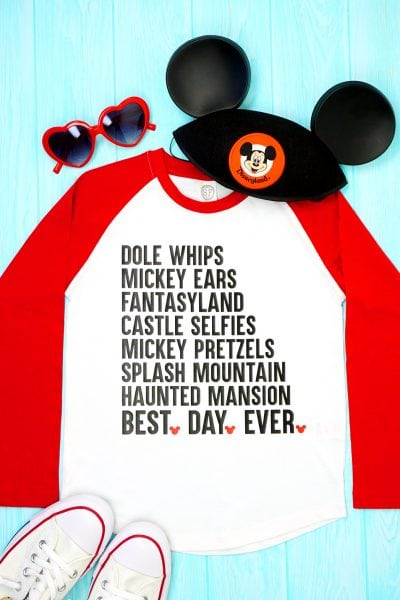 """Best Day Ever"" Disney Shirt + SVG File"
