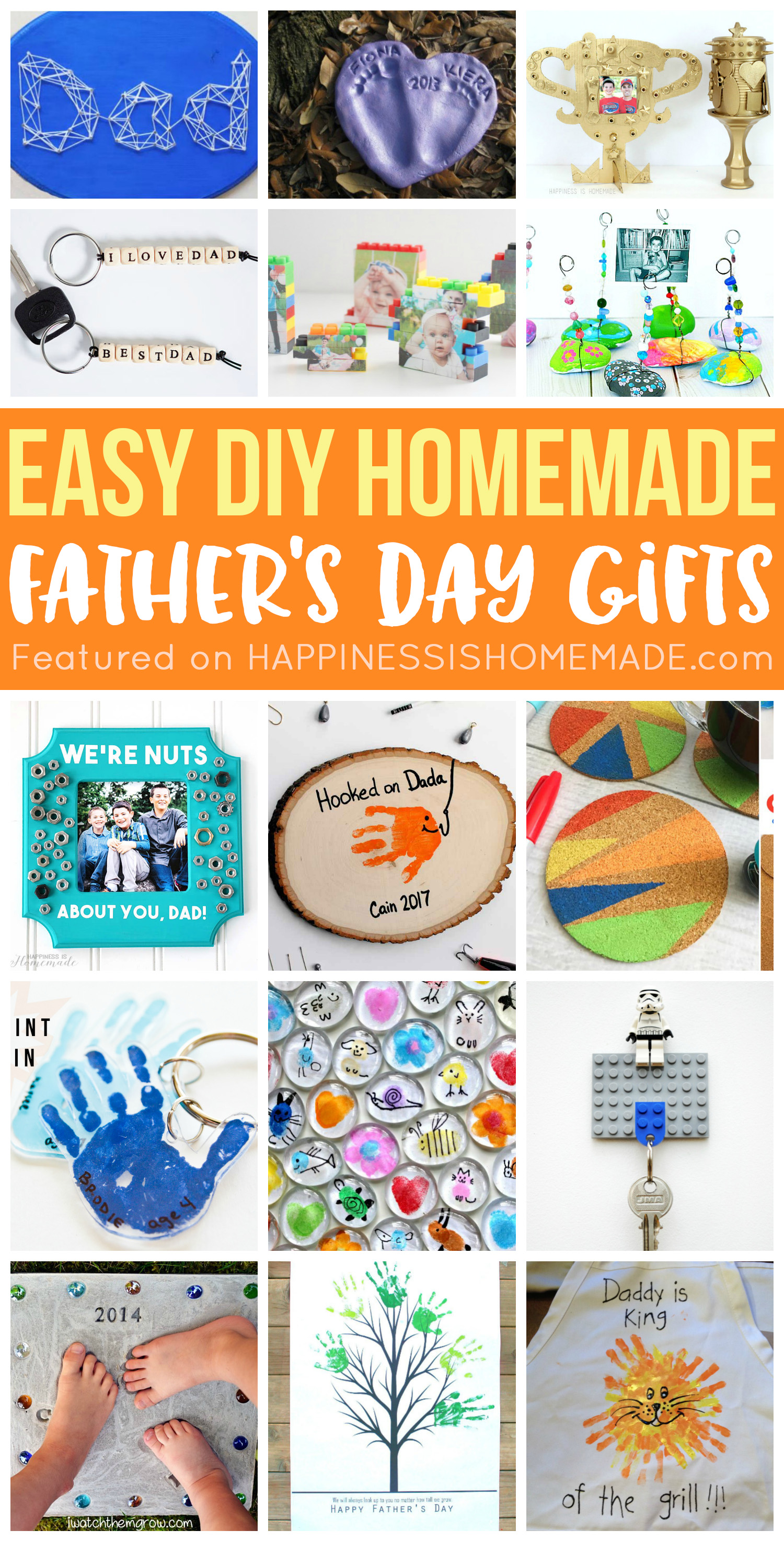 20 Homemade Father S Day Gifts That Kids Can Make Happiness Is Homemade