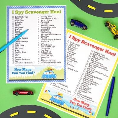 Road Trip Games: I Spy Scavenger Hunt
