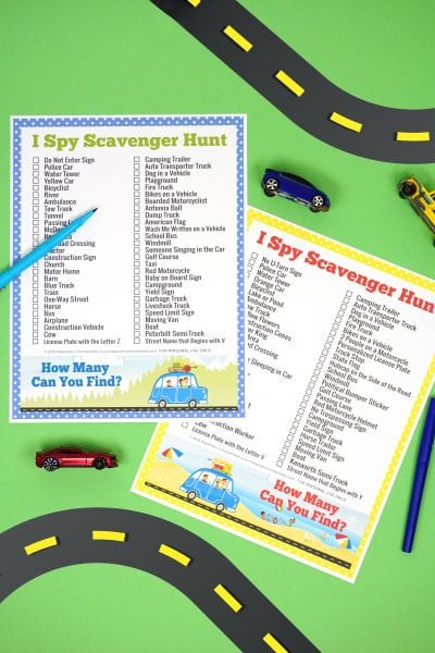 Road Trip I Spy Road Trip Printable Games