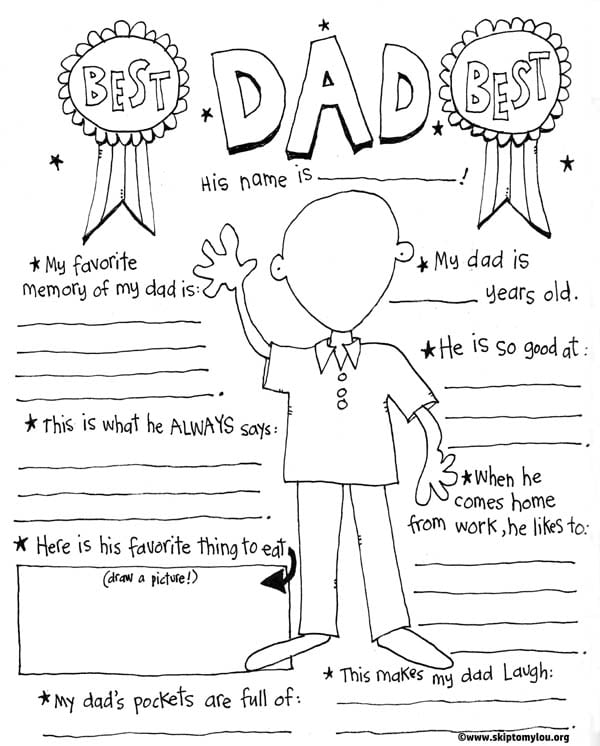 photograph regarding All About My Dad Free Printable known as 20+ Absolutely free Fathers Working day Printables - Contentment is Selfmade