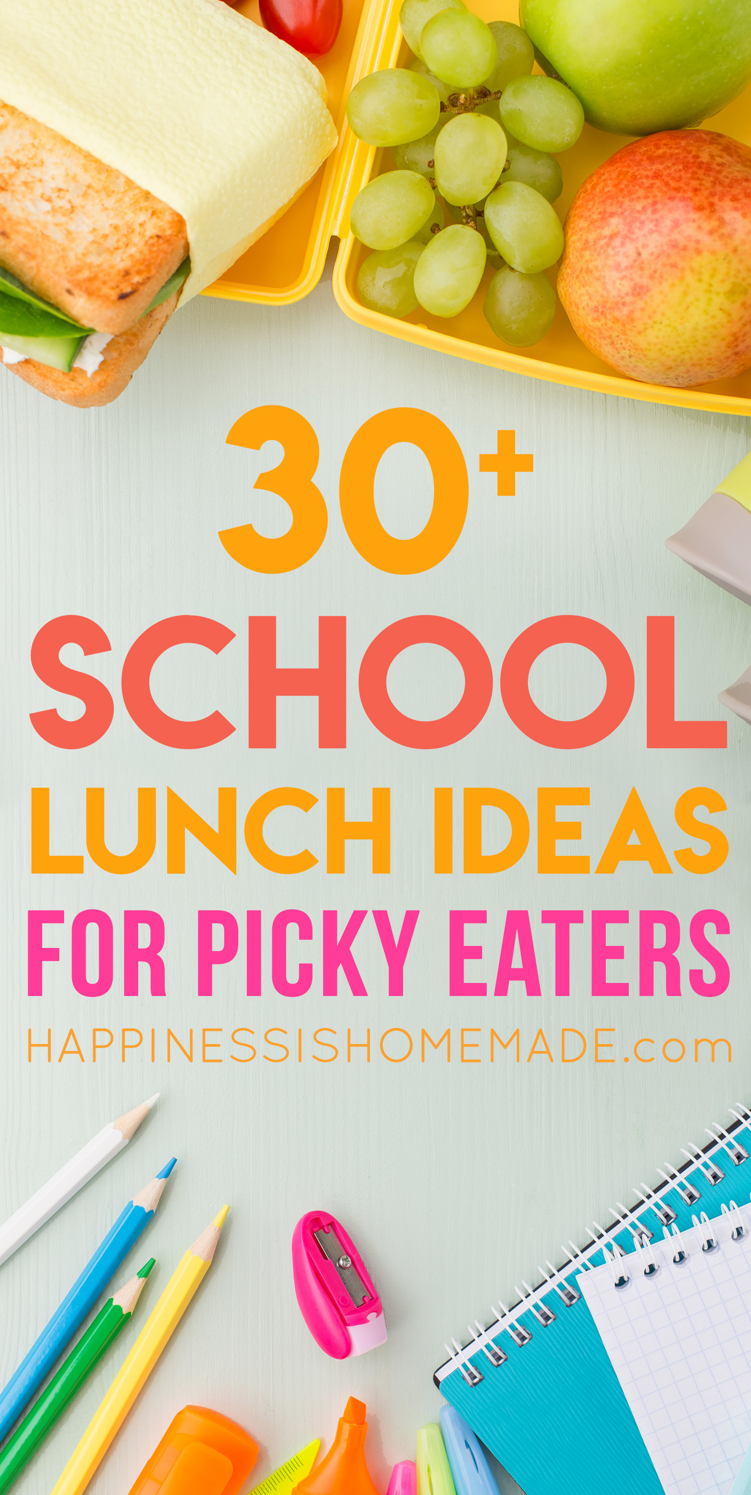 But Sometimes All It Takes Is A Little Creativity And Ingenuity To Spark Your Culinary Imagination Weve Compiled 30 Mix Match School Lunch Ideas