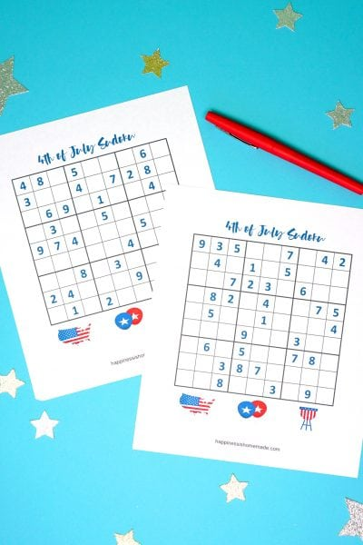 4th of July Printable Sudoku