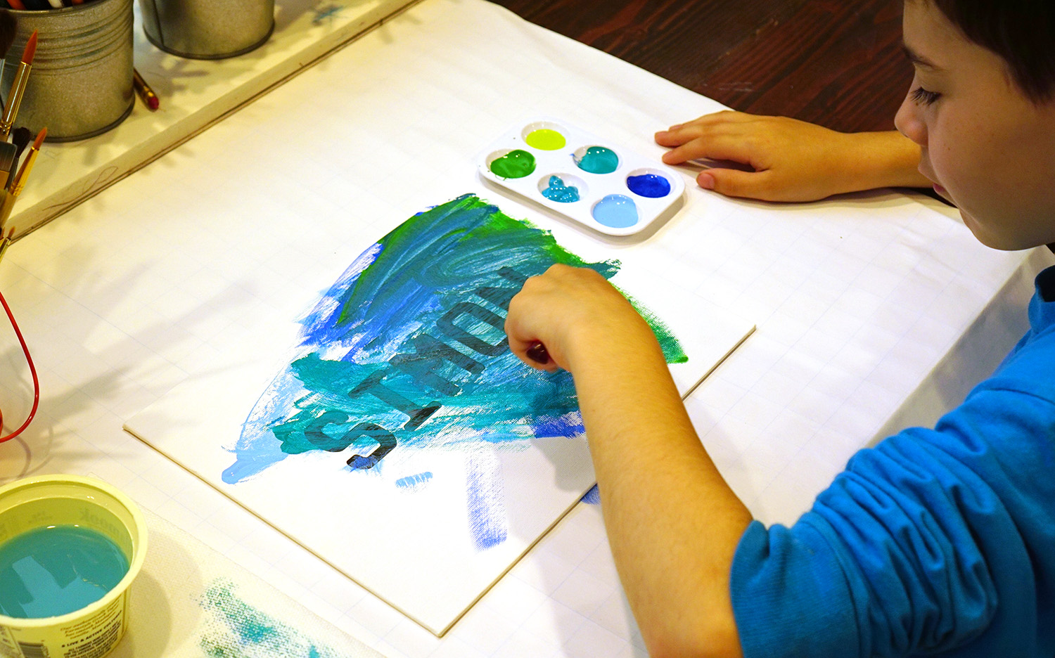 Art for Kids: Silhouette Painting - Happiness is Homemade