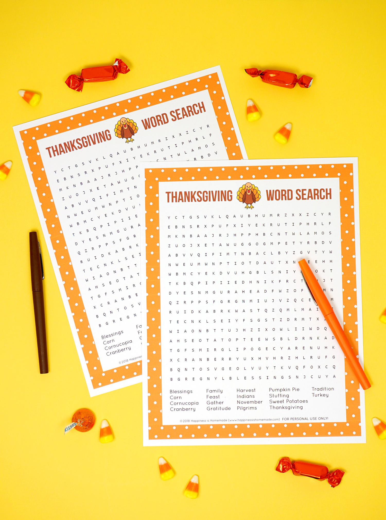 image relating to Printable Thanksgiving Wordsearch referred to as Thanksgiving Term Glance Printable - Pleasure is Selfmade