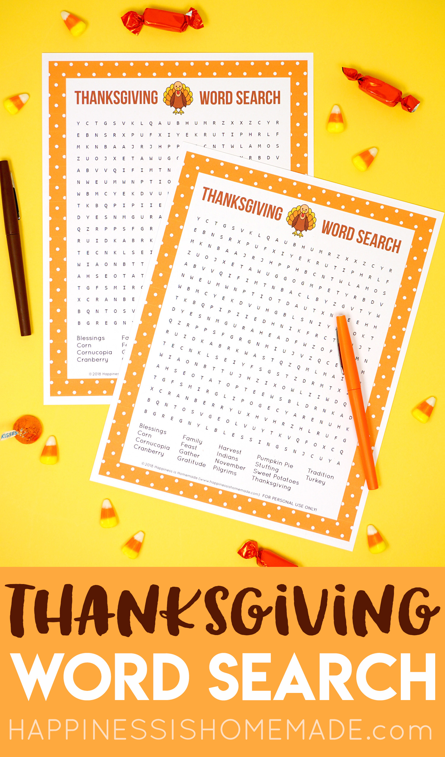 Pin This Thanksgiving Word Search Printable For Later