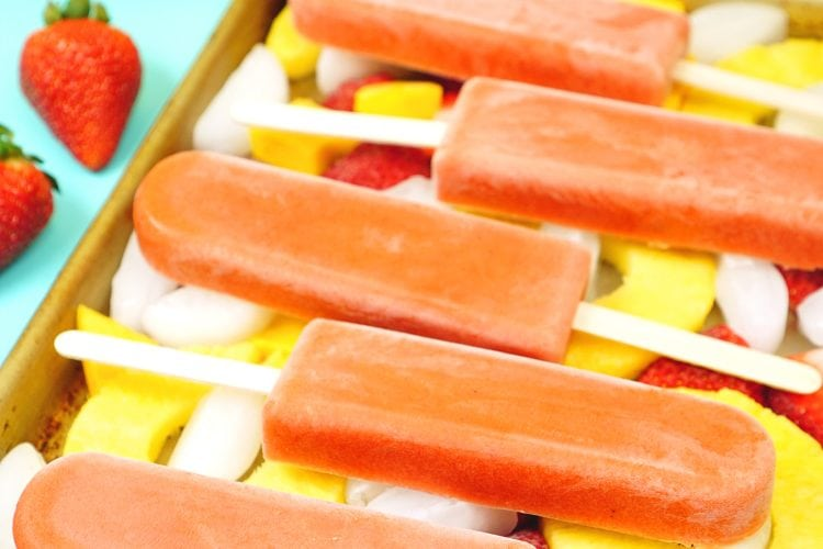 Tropical Smoothie Fruit Pops