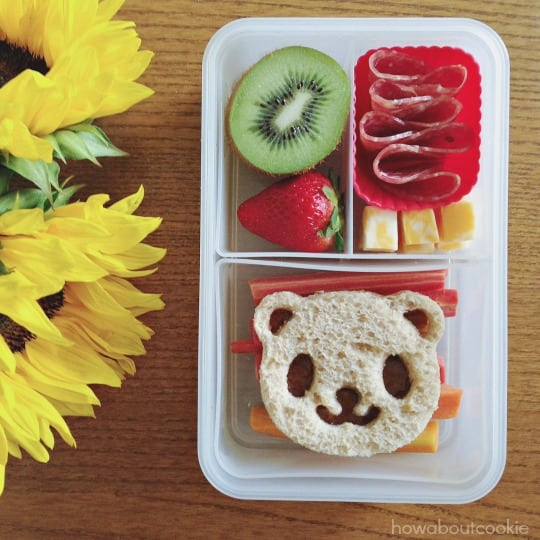 This Adorable Panda Bento Box From How About Cookie Uses A Similar Sandwich Cutter For Cute Lunch That Couldnt Be Easier To Make