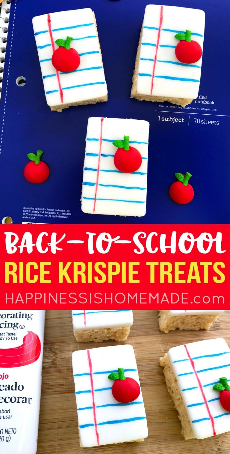 Back-to-School Rice Krispie Treats - Happiness is Homemade