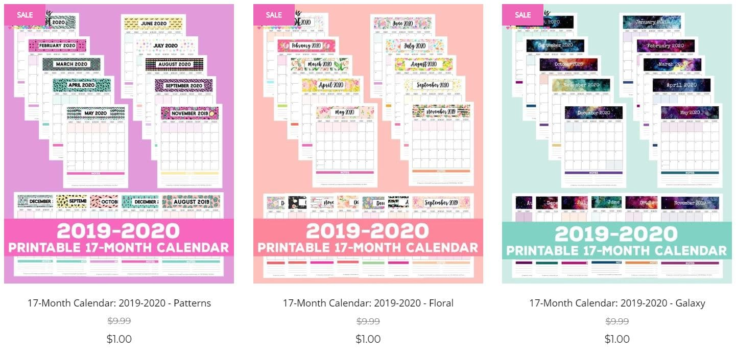 graphic regarding 2020 Calendar Printable named 2019-2020 No cost Printable Regular Calendar - Joy is