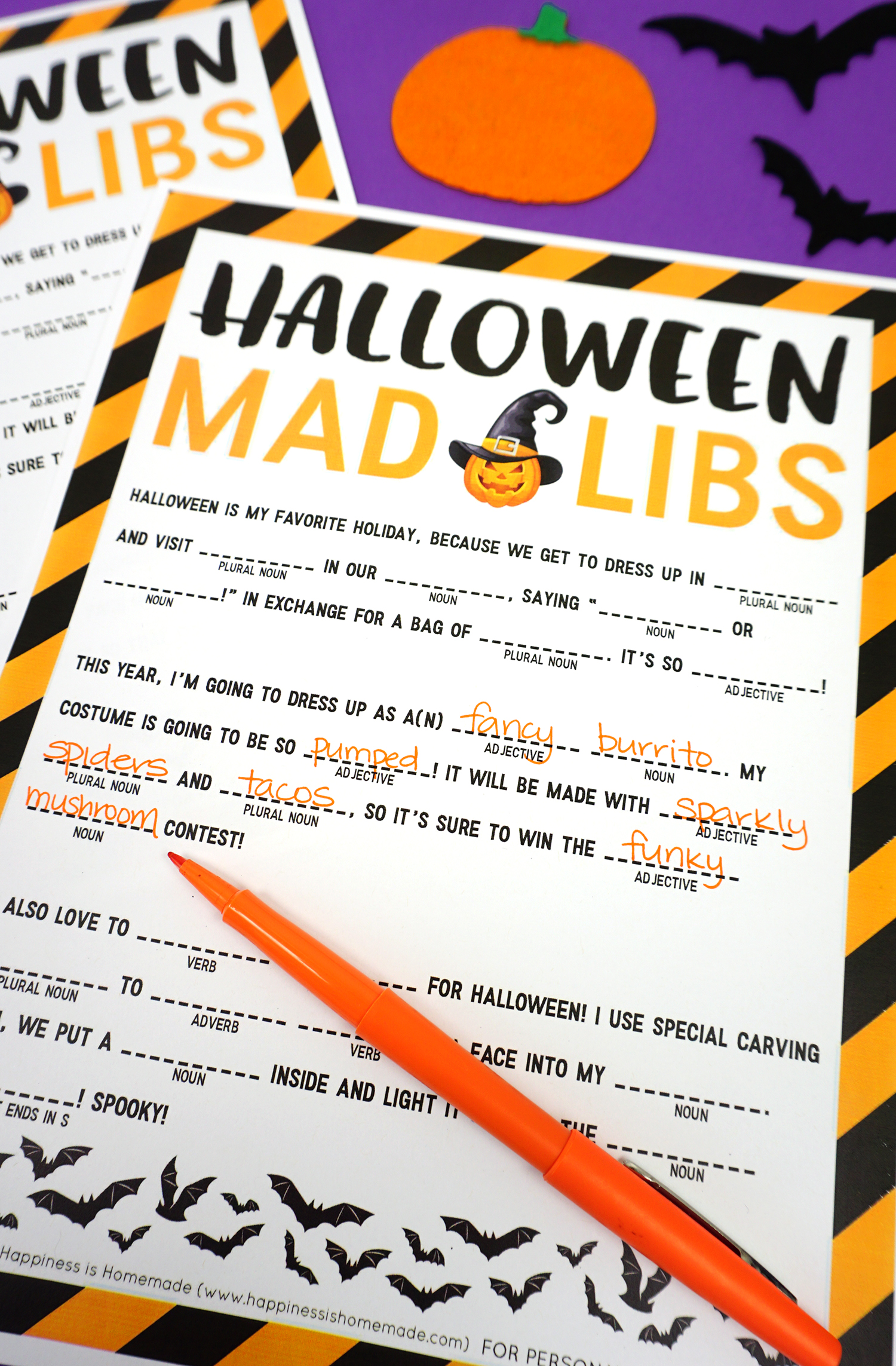 image about Halloween Mad Libs Printable Free named Halloween Outrageous Libs Printable - Contentment is Do-it-yourself