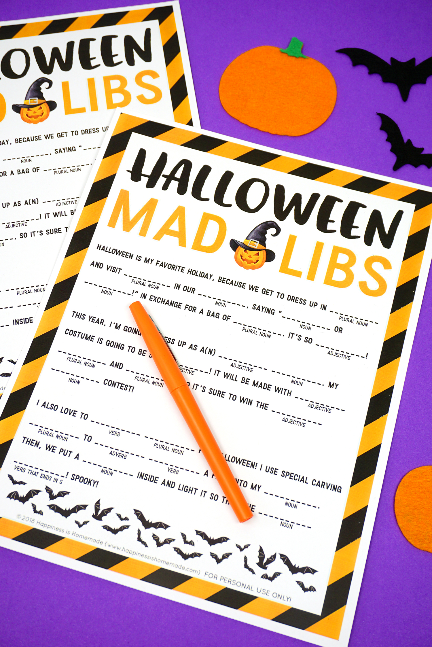 photo about Halloween Mad Libs Printable Free named Halloween Nuts Libs Printable - Pleasure is Home made