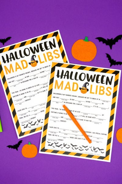 Halloween Mad Libs by Happiness is Homemade