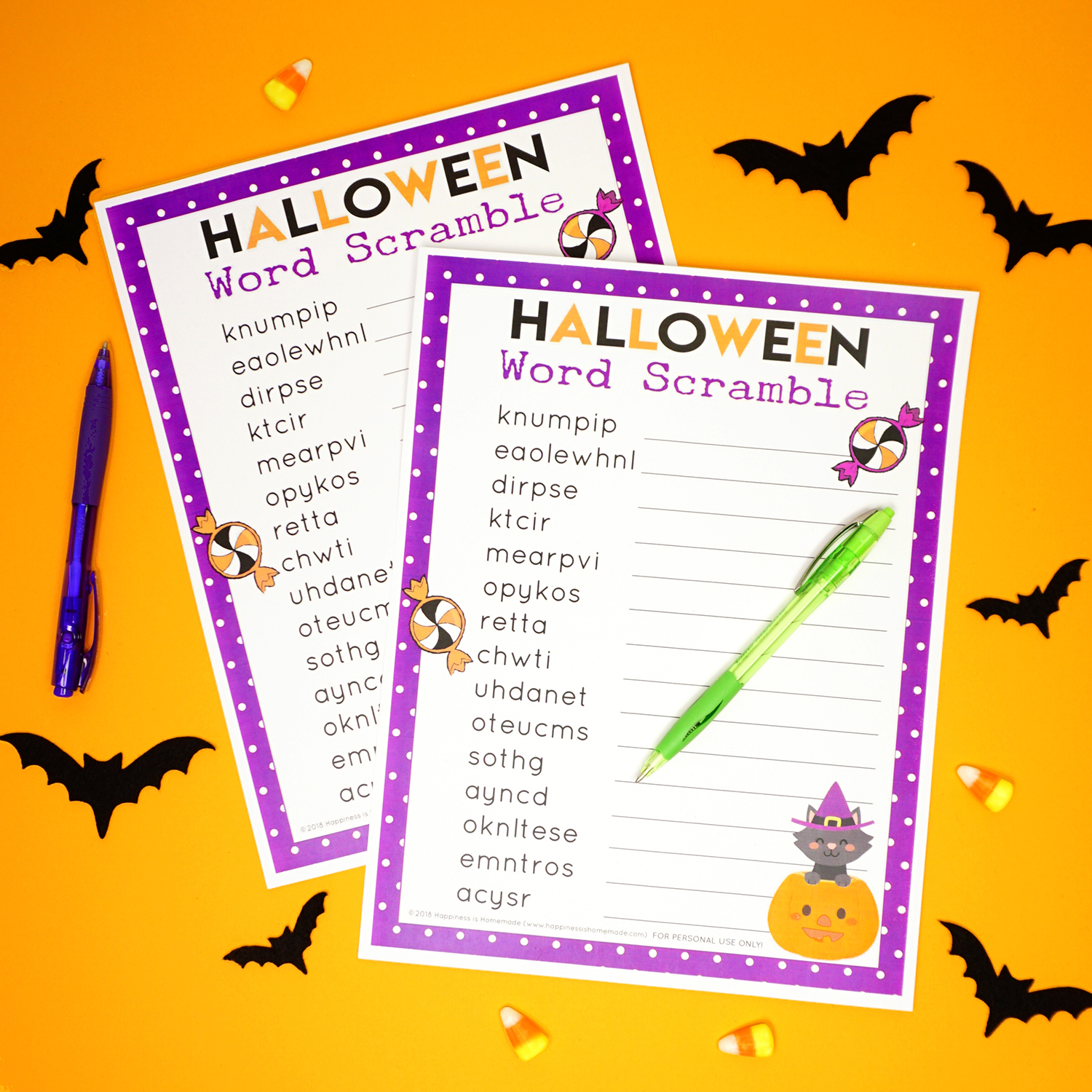 this printable halloween word scramble game is a ton of fun its the perfect halloween game for teachers playgroups family fun nights scout troops