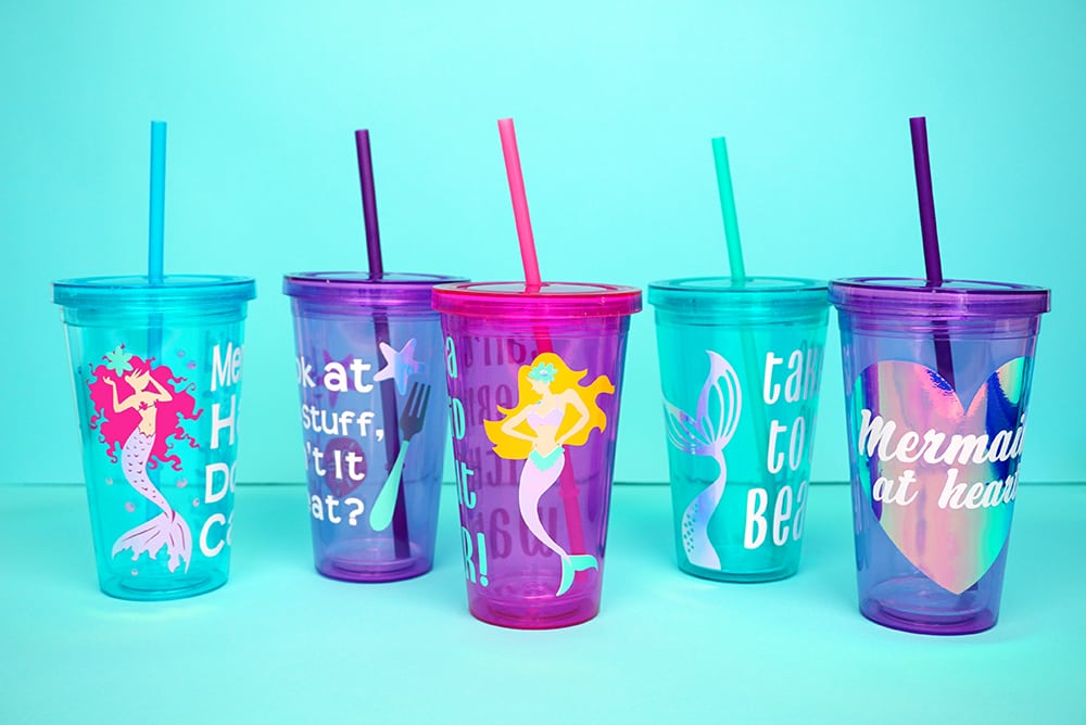 Decorate Cups for Your Kid's Party with a Vinyl Cutter