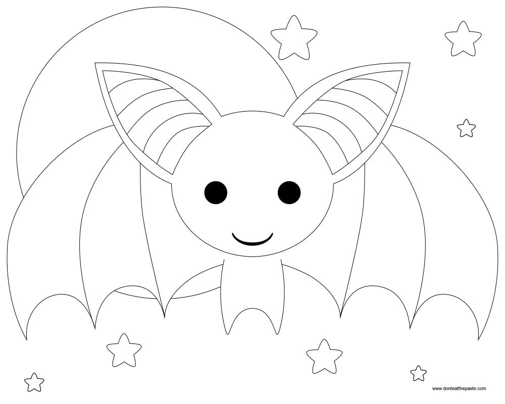 Bat Halloween Coloring Page