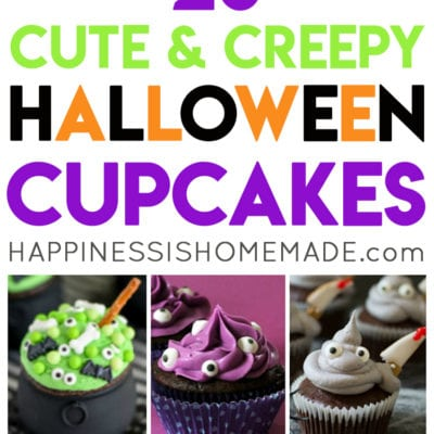 20 Cute & Creepy Halloween Cupcakes