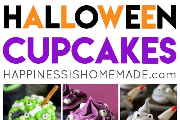 20 Cute & Creepy Halloween Cupcakes