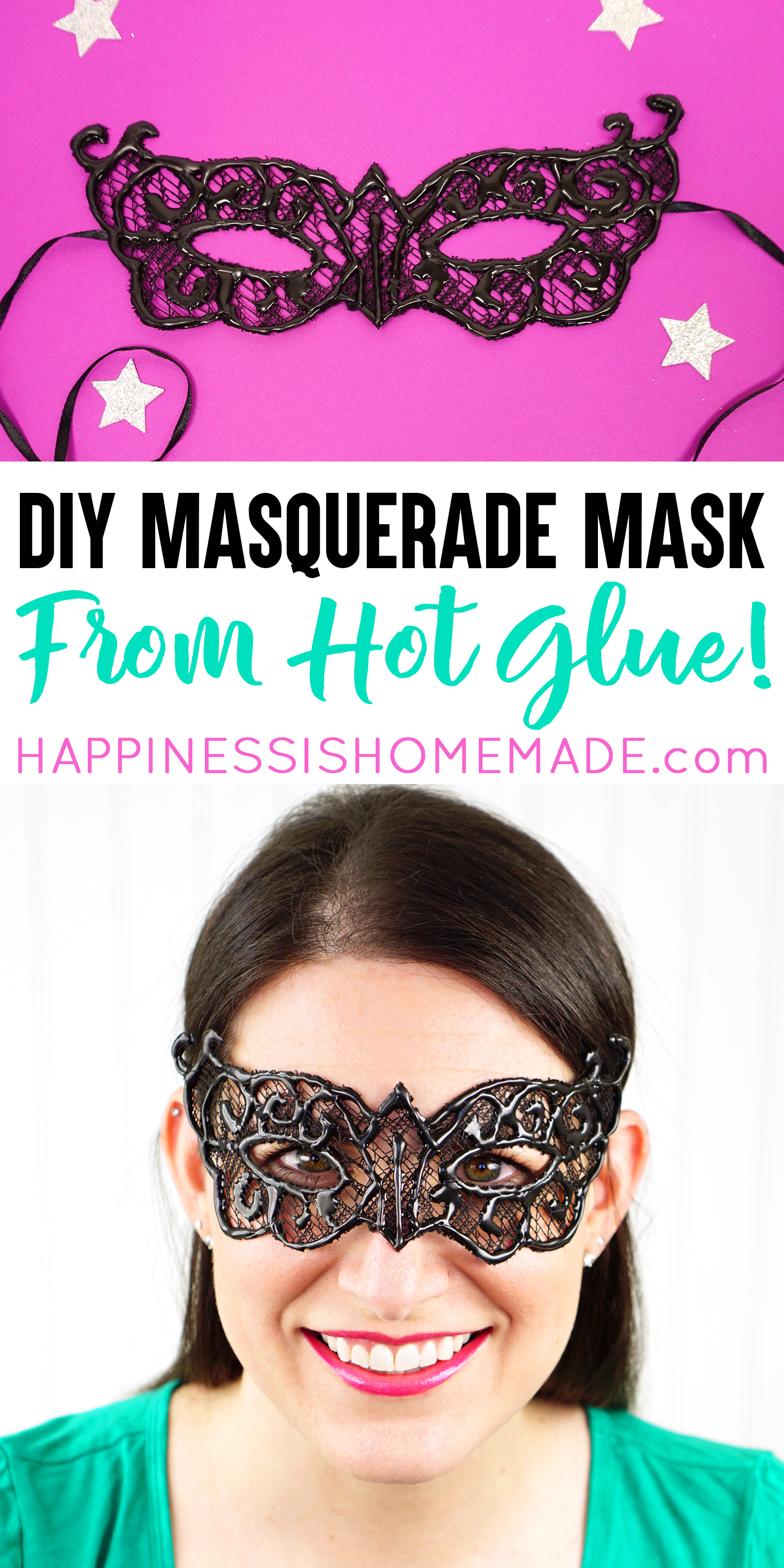 Easy Diy Lace Masquerade Mask From Hot Glue Happiness Is Homemade