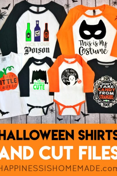 Cute Halloween Shirt Collection with Cricut