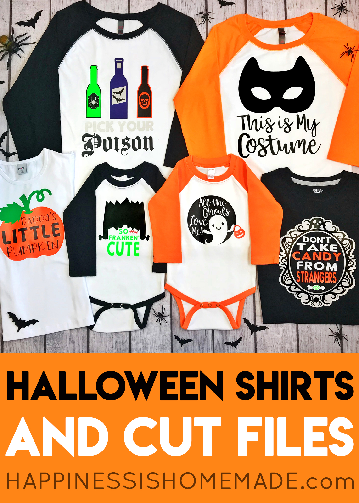 cute halloween shirt collection with cricut - happiness is homemade