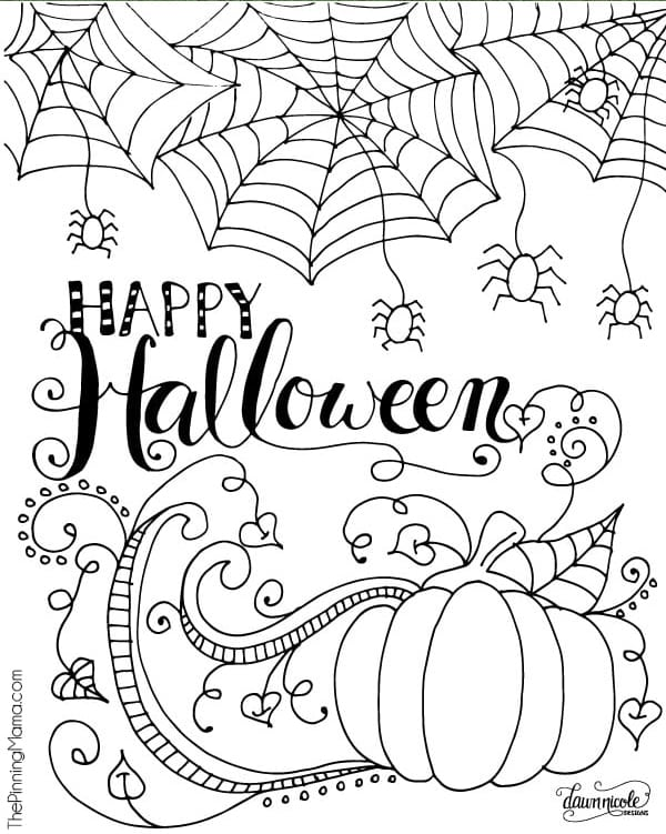 picture regarding Halloween Printable identified as Cost-free Halloween Coloring Webpages for Grown ups Youngsters - Joy