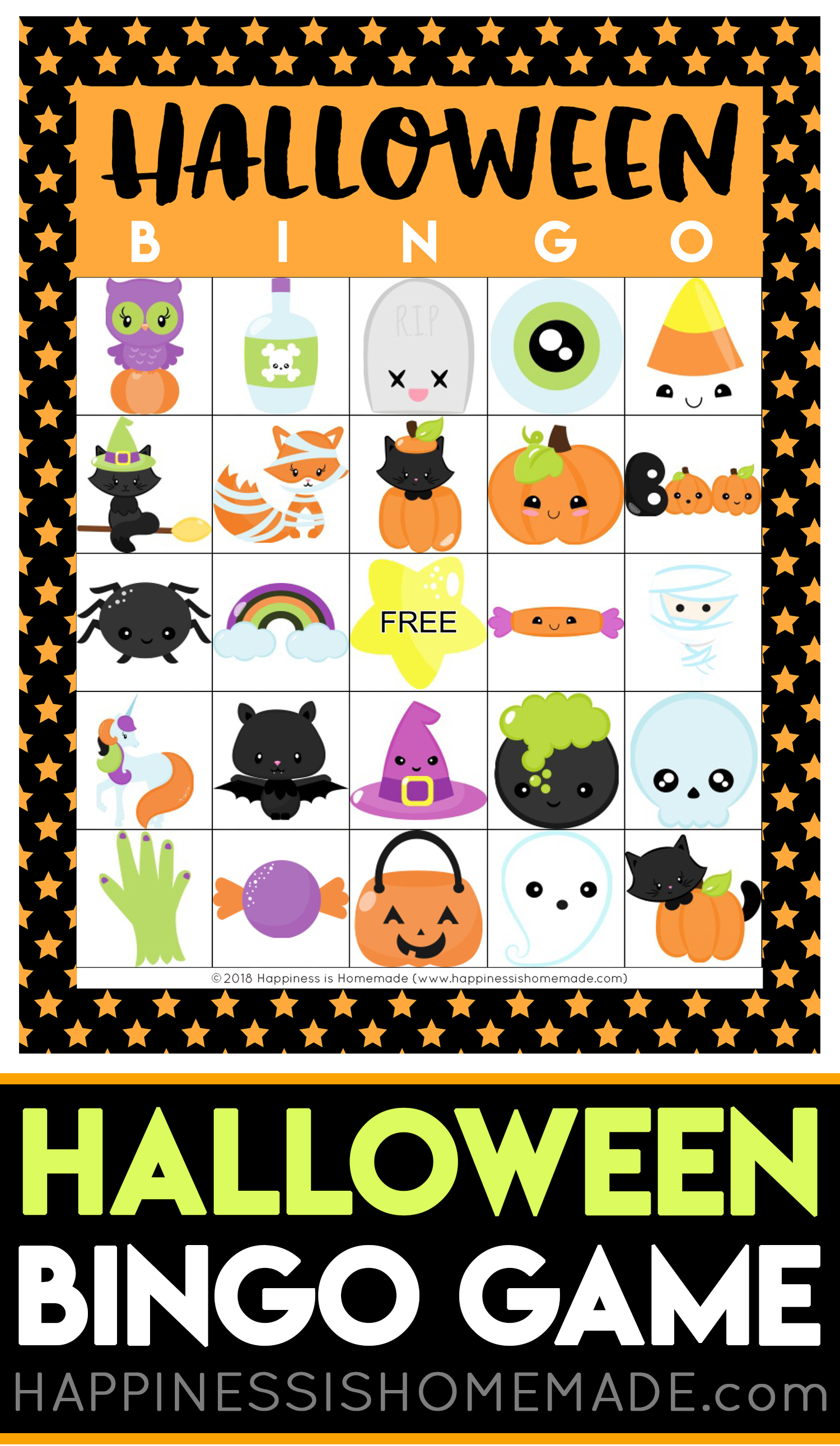 graphic regarding 25 Printable Halloween Bingo Cards identified as Printable Halloween Bingo Playing cards - Joy is Home made