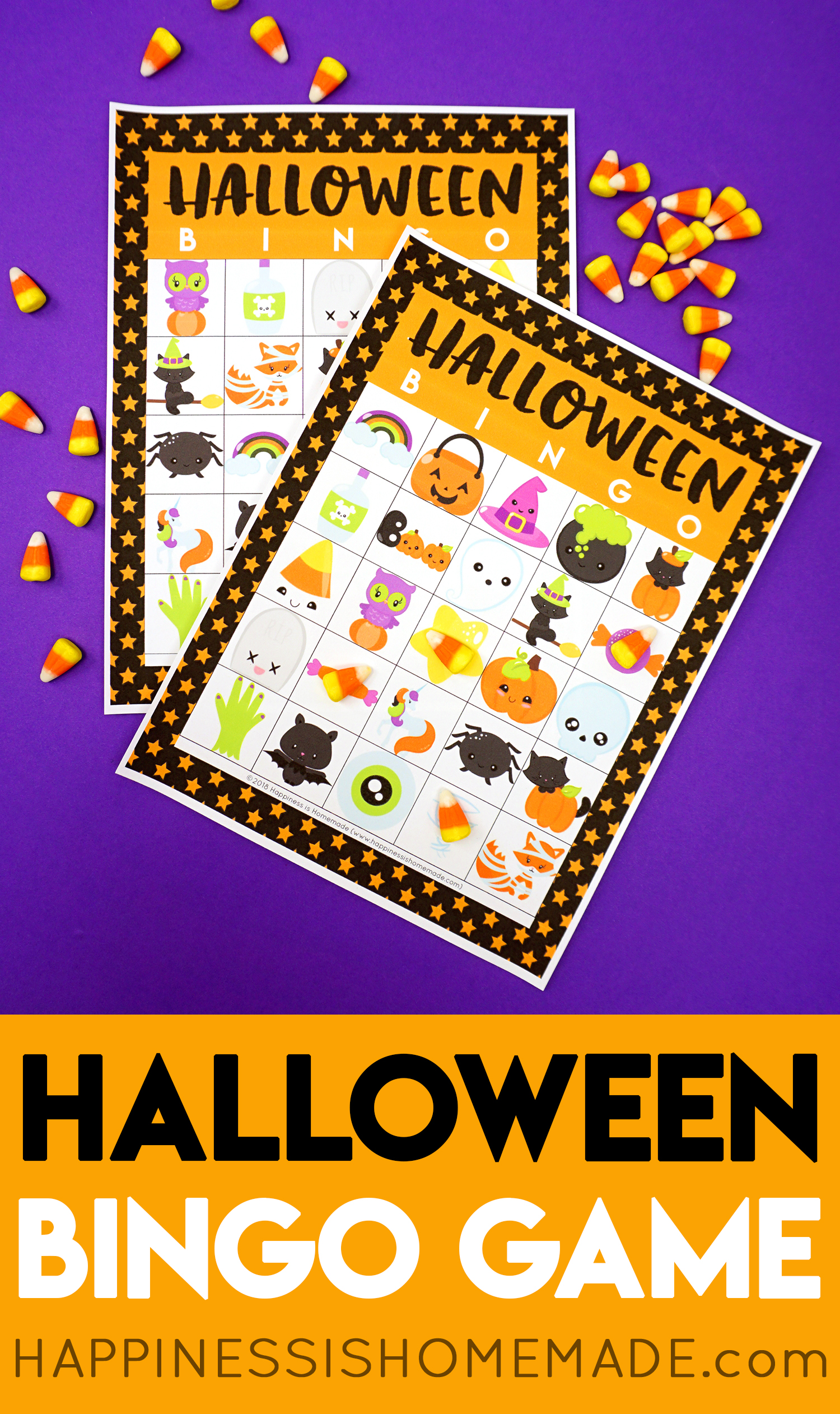 photograph regarding Printable Halloween Bingo Cards known as Printable Halloween Bingo Playing cards - Contentment is Do-it-yourself