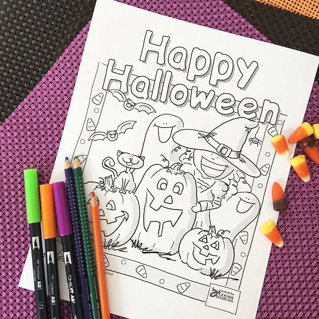 this treat loving monster halloween coloring page is definitely more sweet than scary so hes great for little kids