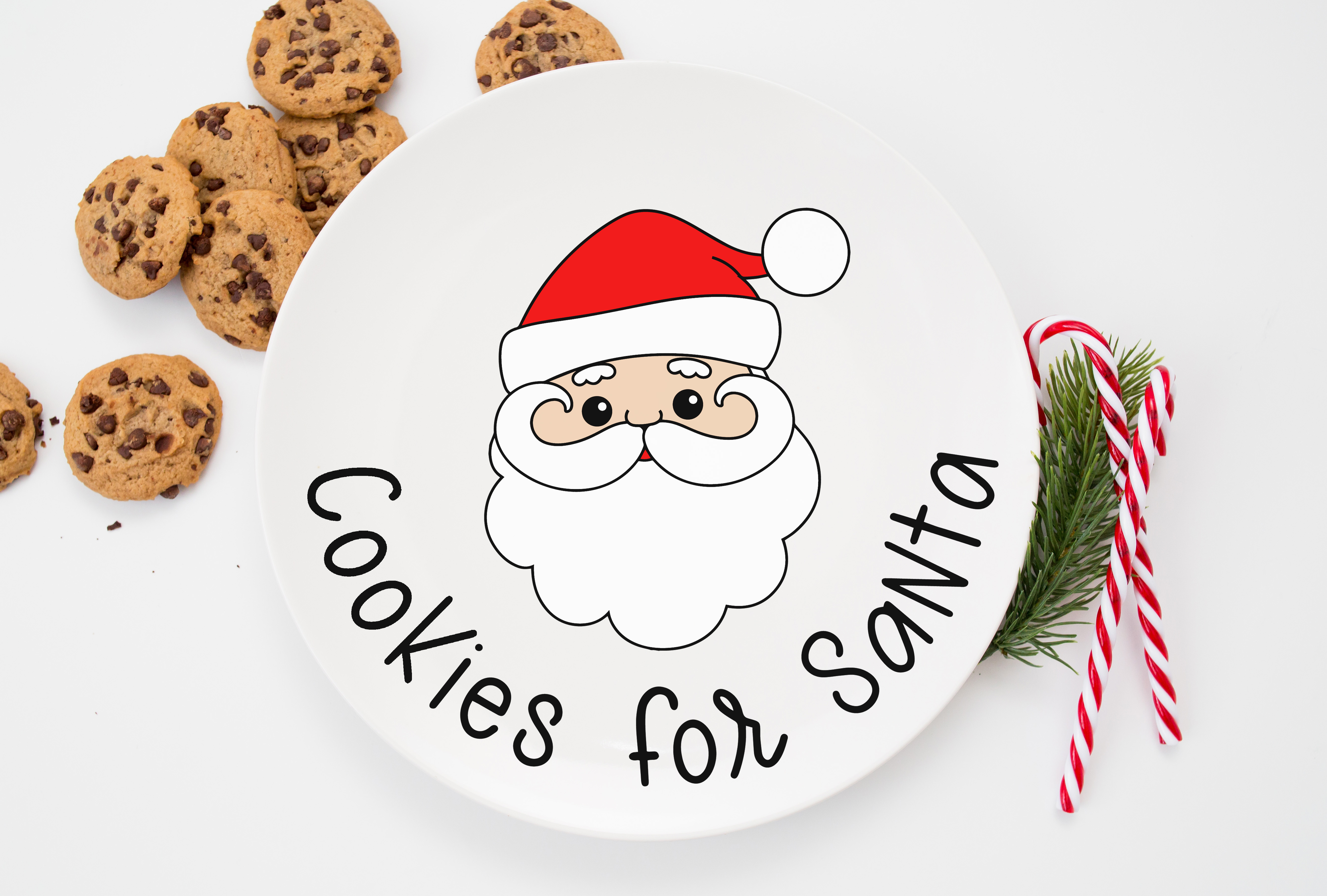 Cookies For Santa Plate Free Christmas Svgs Happiness Is Homemade