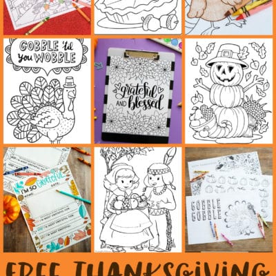FREE Thanksgiving Coloring Pages for Adults & Kids