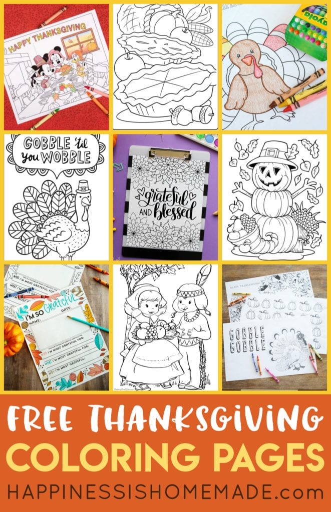 - FREE Thanksgiving Coloring Pages For Adults & Kids - Happiness Is Homemade