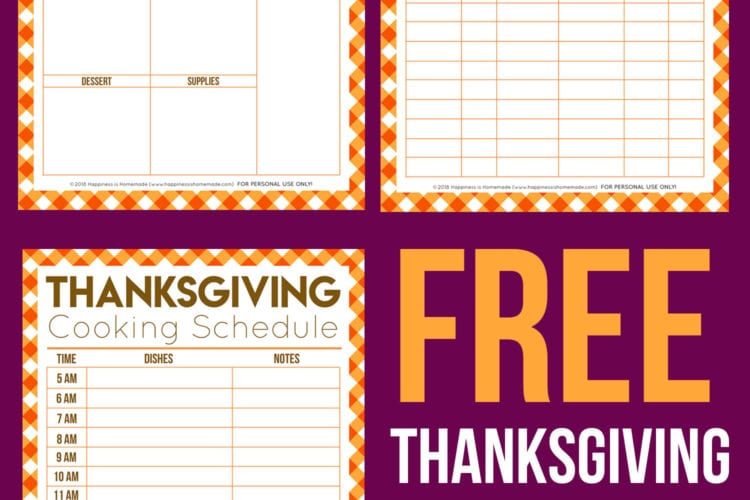 Free Thanksgiving Printables – Menu Planner, Guest List, & More!