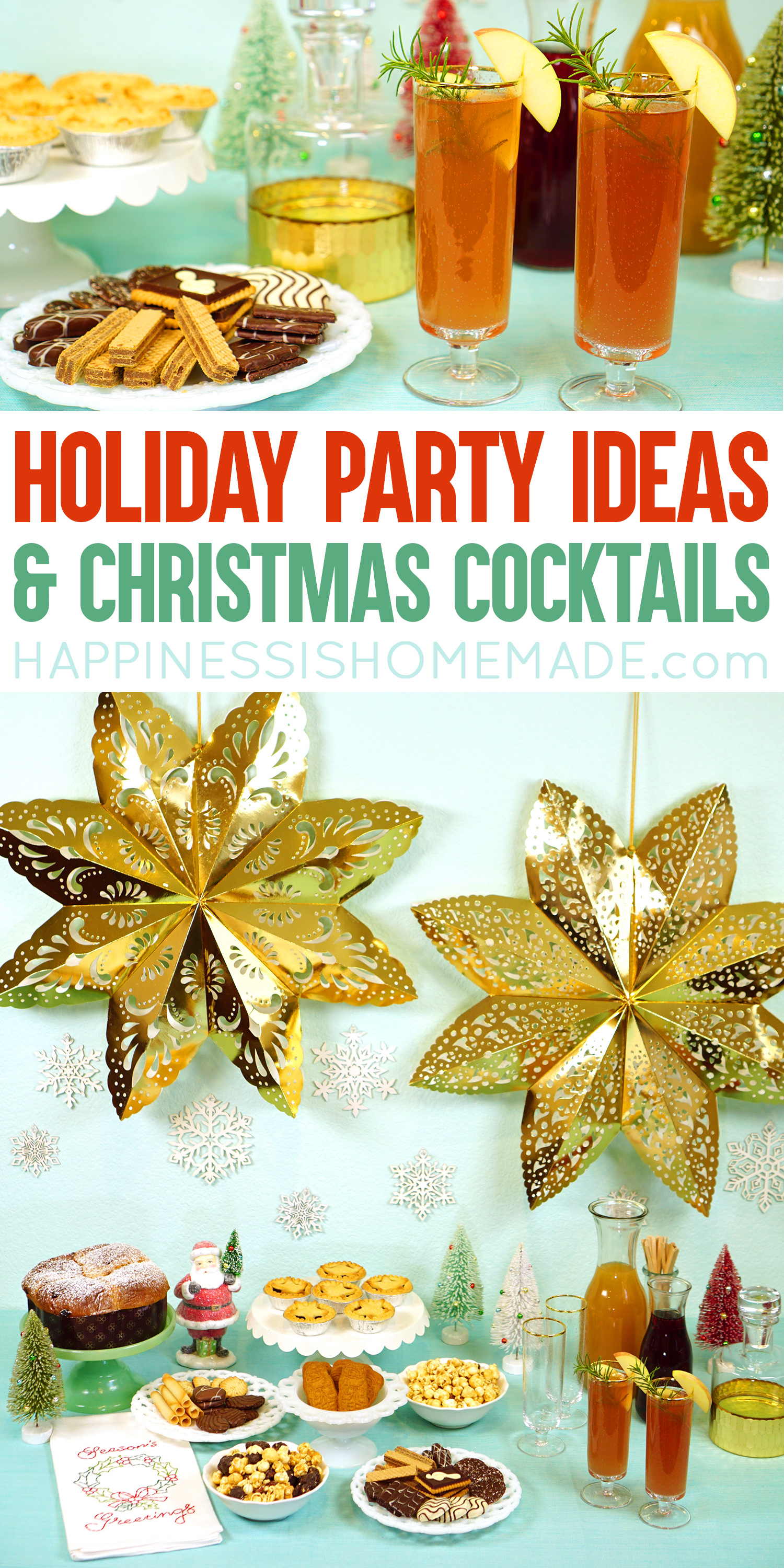 Holiday Party Ideas & Christmas Cocktail Recipes - Countdown to Christmas in style with a fun holiday crafting party, Christmas cocktails, and Hallmark Channel Christmas movies, of course! via @hihomemadeblog