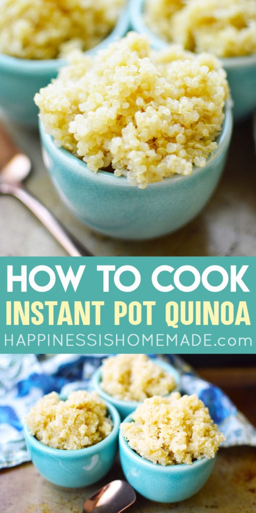 Instant Pot Quinoa Recipe - Learn how to cook quinoa in the Instant Pot pressure cooker with this easy Instant Pot Quinoa Recipe! Plus flavoring tips for how to make quinoa taste good!