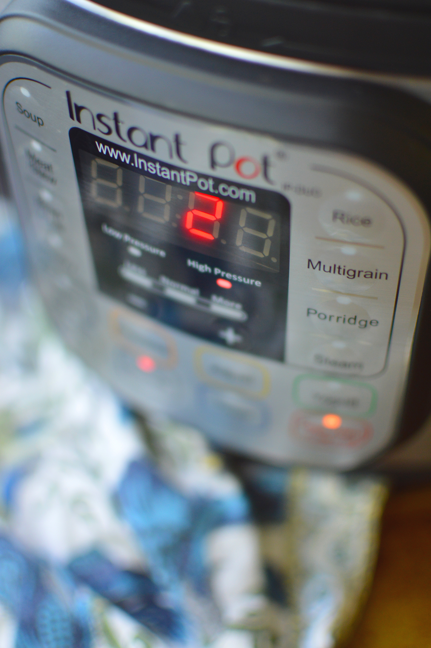 Cooking Instant Pot Quinoa - Countdown Timer