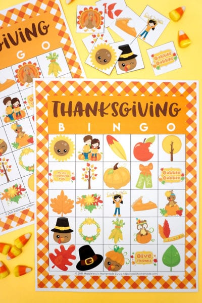 Printable Thanksgiving Bingo Game