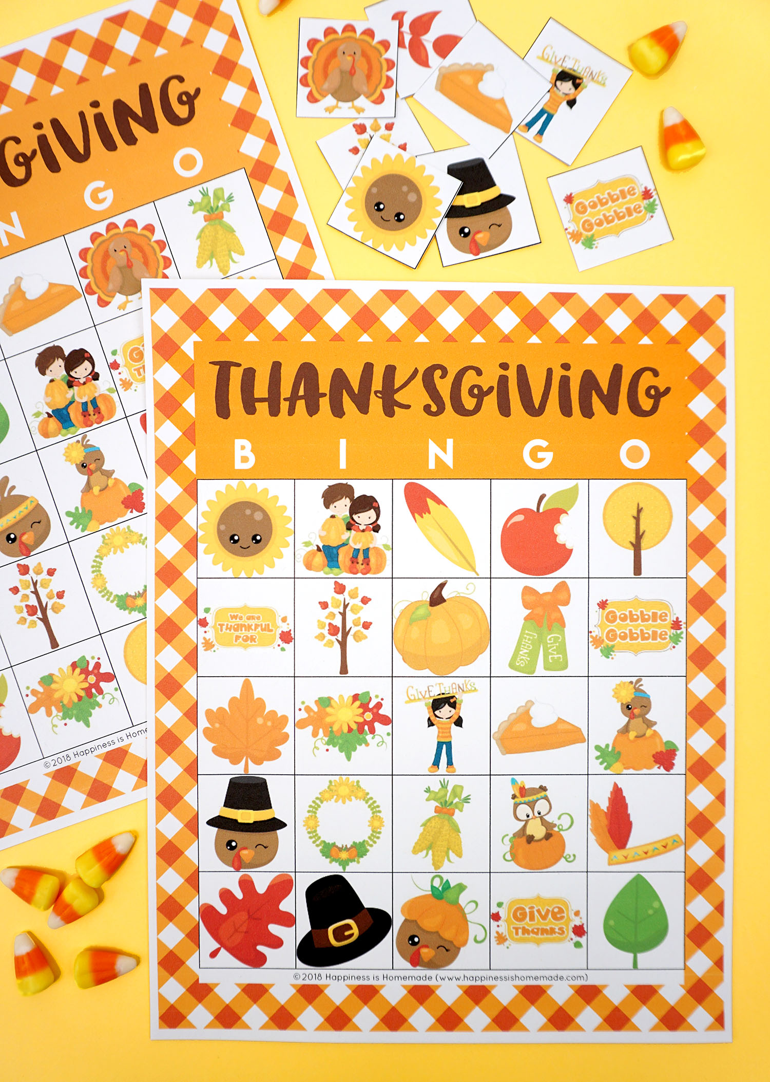 photo regarding Printable Thanksgiving Cards referred to as Totally free Printable Thanksgiving Bingo Playing cards - Contentment is Selfmade