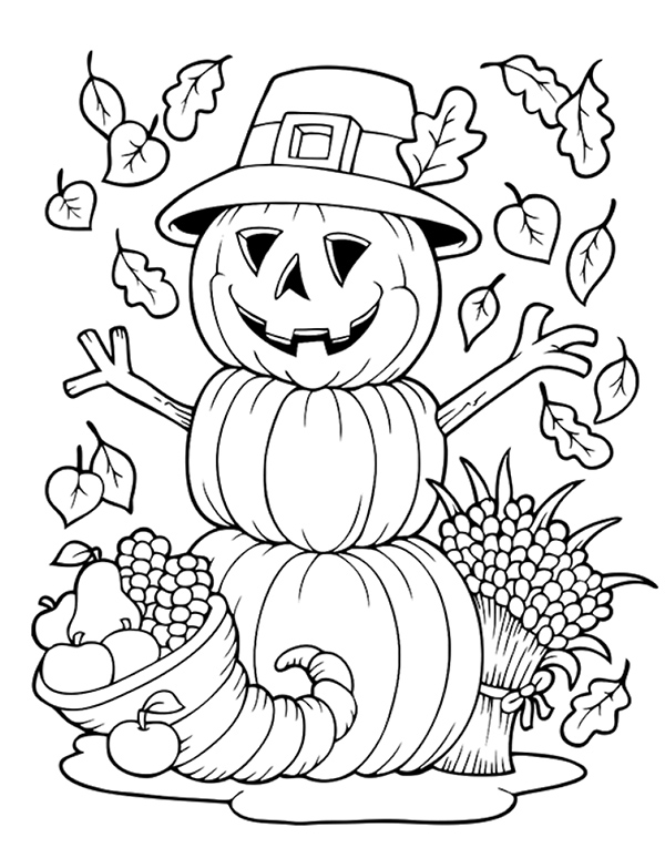 Happy Thanksgiving Coloring Pages - Coloring Home | 765x600