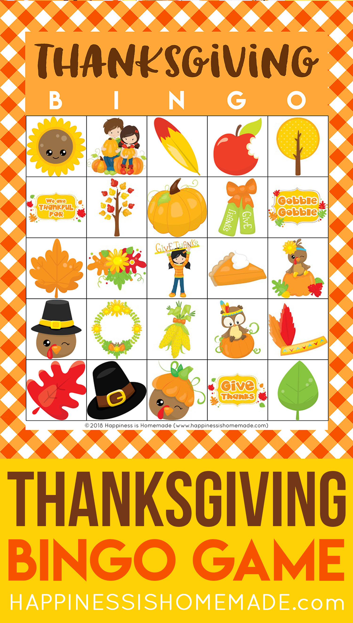 image about Free Printable Thanksgiving Bingo Cards known as Cost-free Printable Thanksgiving Bingo Playing cards - Joy is Home made