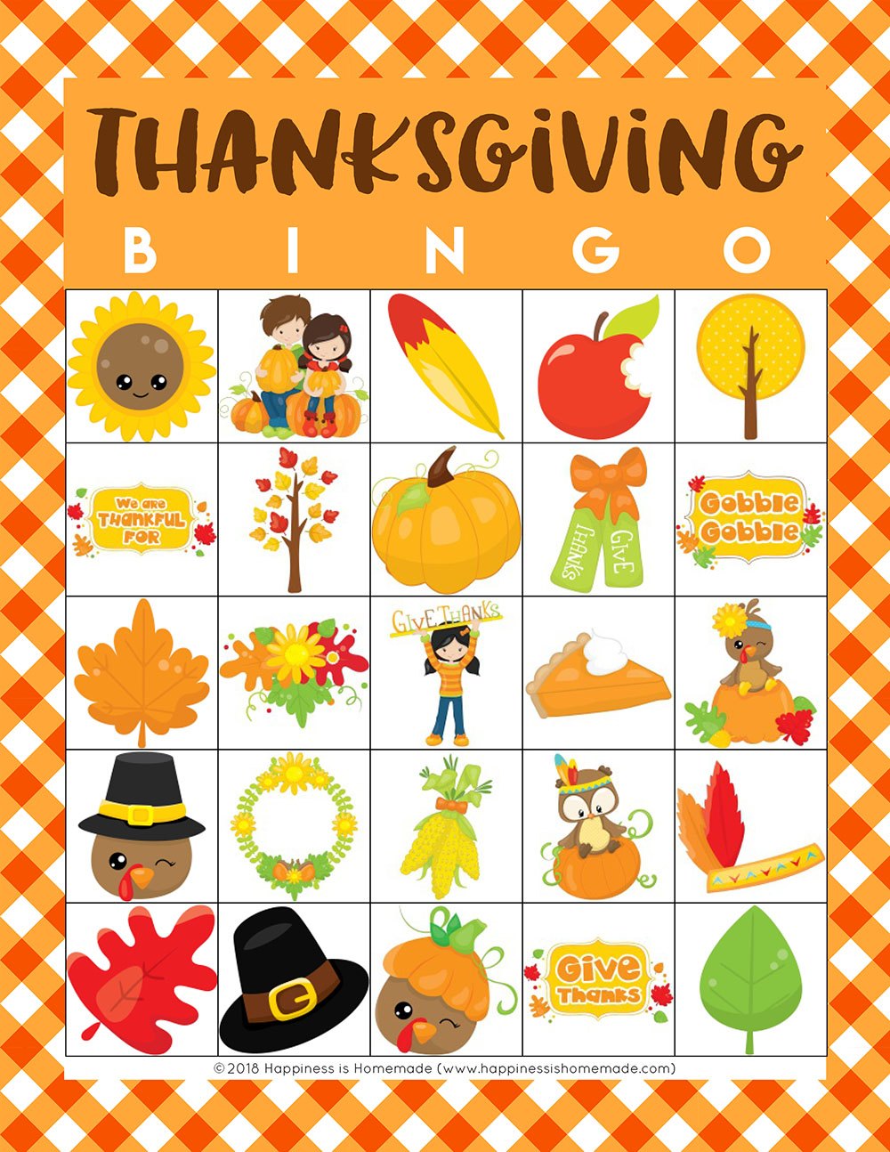 picture regarding Thanksgiving Bingo Printable known as Free of charge Printable Thanksgiving Bingo Playing cards - Contentment is Home made