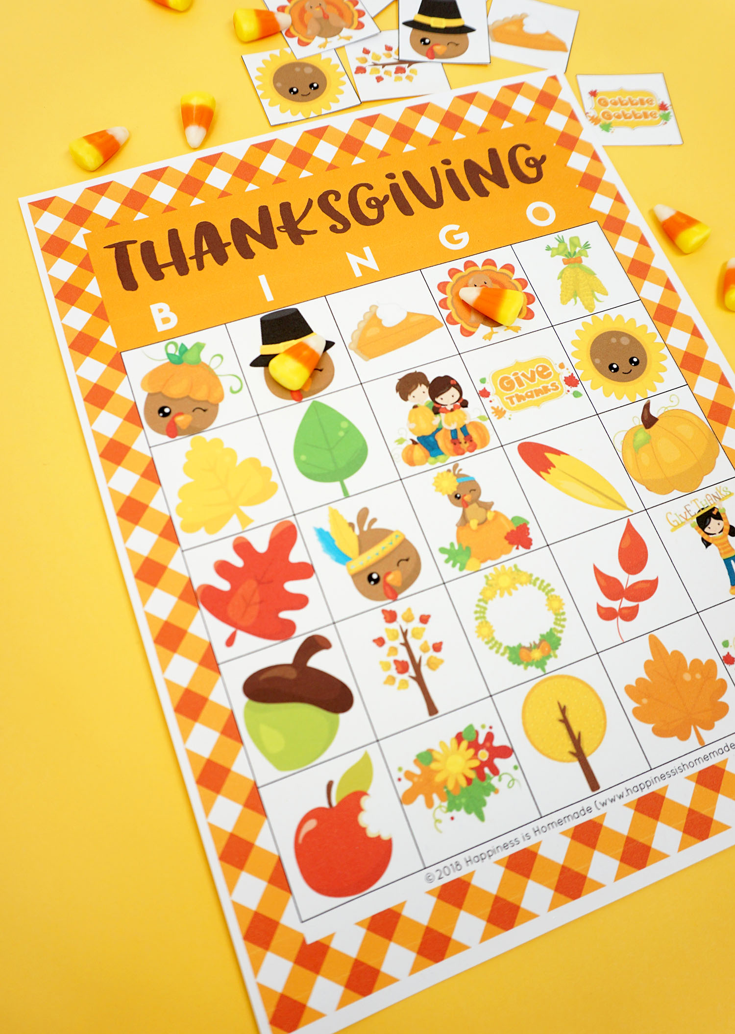 graphic about Thanksgiving Bingo Printable known as No cost Printable Thanksgiving Bingo Playing cards - Joy is Do-it-yourself