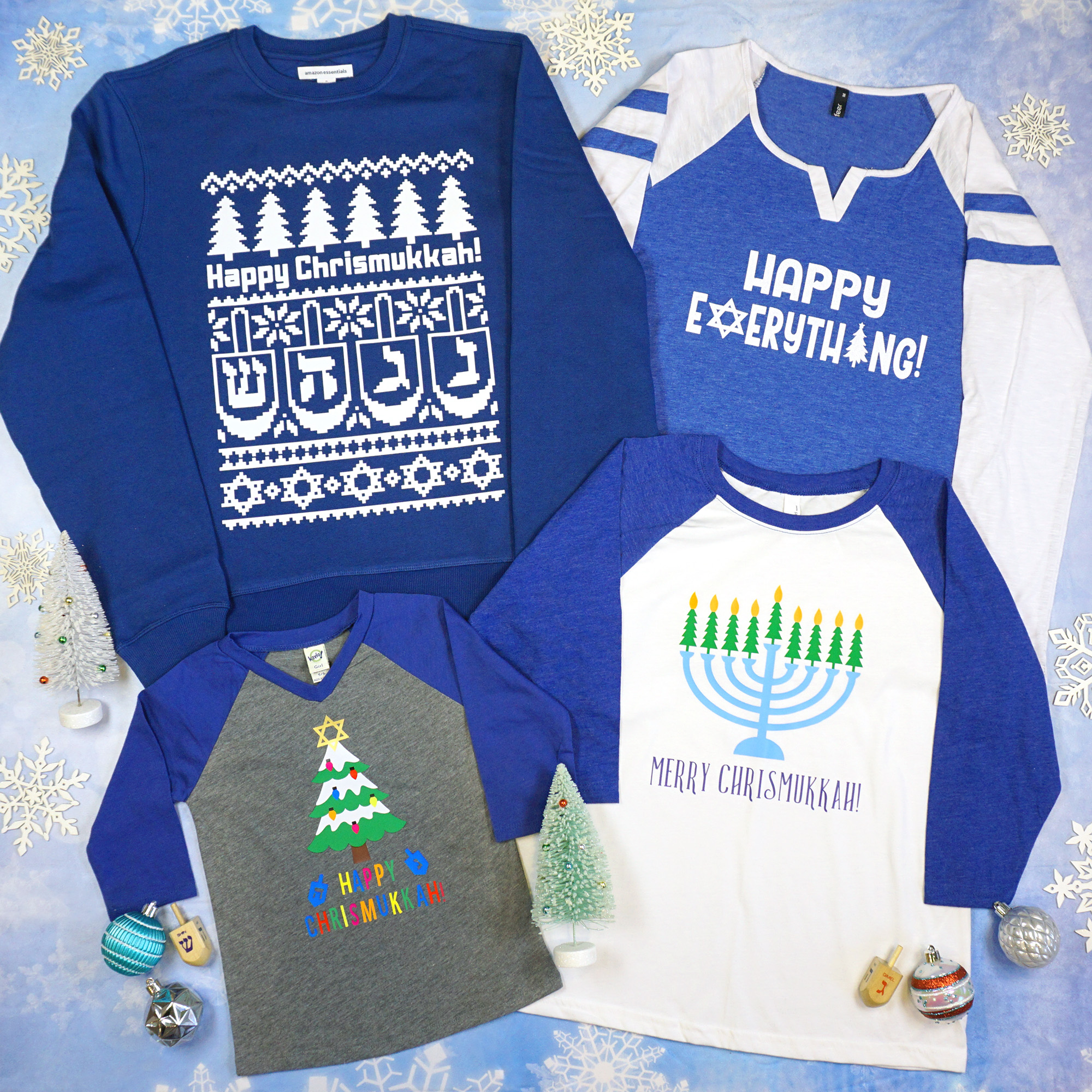 Diy Chrismukkah Shirts With Cricut Happiness Is Homemade