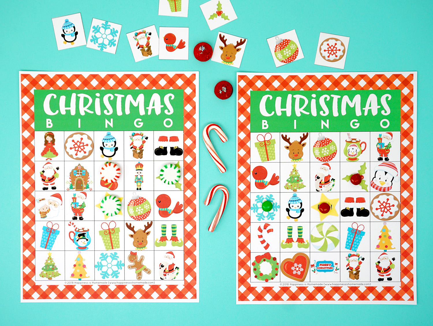 image about Christmas Bingo Card Printable titled Printable Xmas Bingo Sport - Contentment is Do-it-yourself