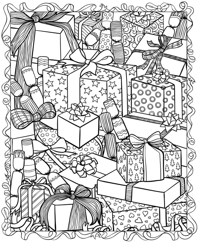 adult coloring pages christmas FREE Christmas Coloring Pages for Adults and Kids   Happiness is  adult coloring pages christmas