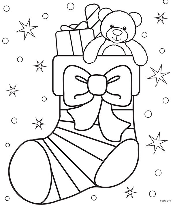 how cute is this christmas stocking coloring page i love that sweet teddy bear