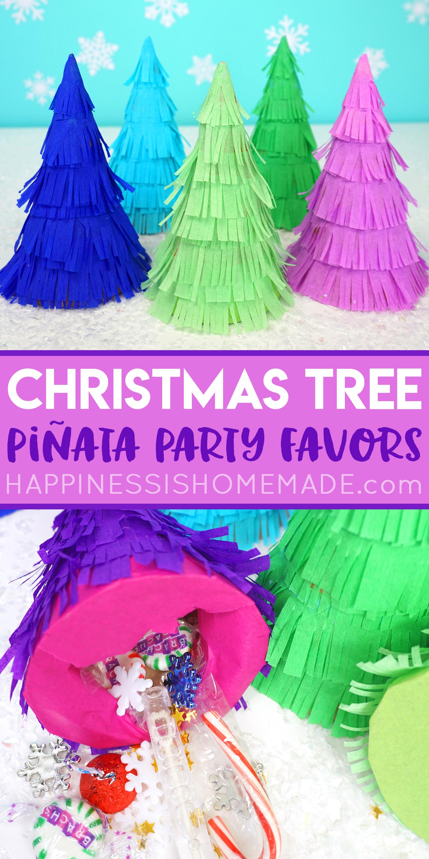 Christmas Pinata.Christmas Tree Pinata Party Favors Happiness Is Homemade