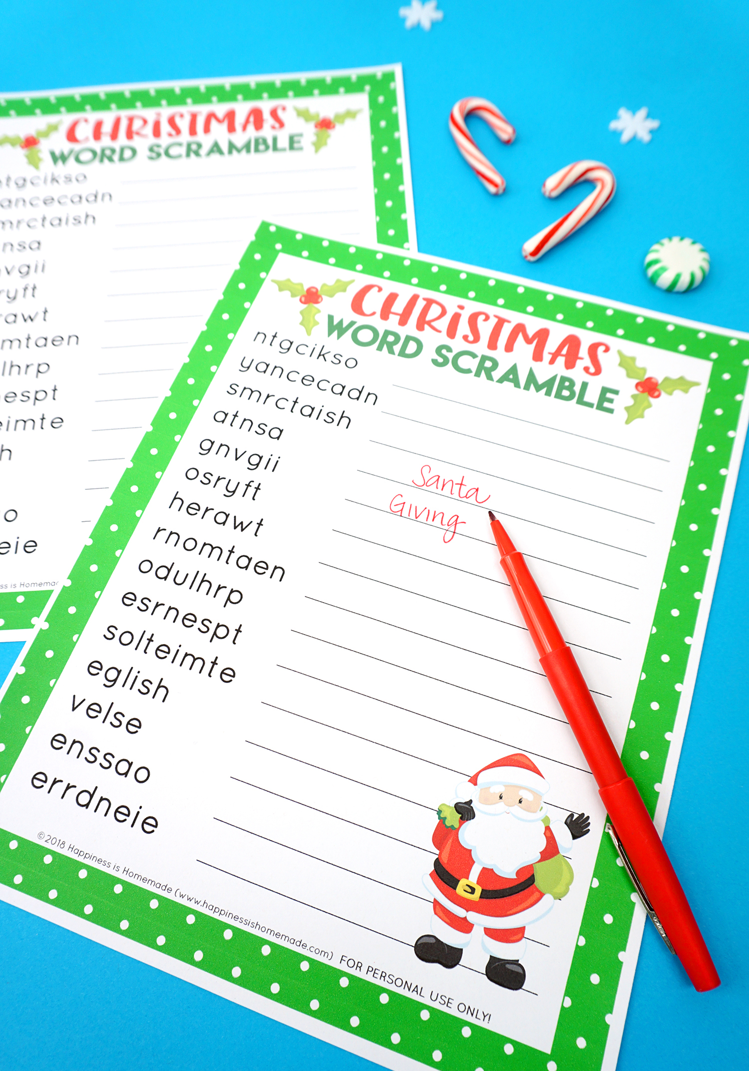 graphic relating to Holiday Word Scramble Printable referred to as Xmas Phrase Scramble Printable - Pleasure is Selfmade